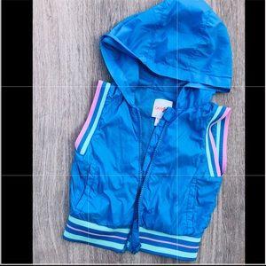 Sleeveless zip up hoodie